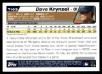 2004 Topps Traded #103 T Dave Krynzel  Back Thumbnail