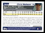 2004 Topps Traded #83 T Chris Nelson  Back Thumbnail