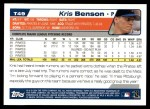 2004 Topps Traded #49 T Kris Benson  Back Thumbnail
