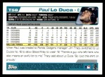 2004 Topps Traded #58 T Paul Lo Duca  Back Thumbnail