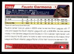 2004 Topps Traded #124 T  -  Fausto Carmona First Year Back Thumbnail