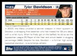 2004 Topps Traded #123 T  -  Tyler Davidson First Year Back Thumbnail
