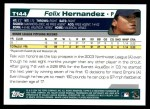 2004 Topps Traded #144 T  -  Felix Hernandez First Year Back Thumbnail