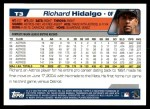 2004 Topps Traded #3 T Richard Hidalgo  Back Thumbnail