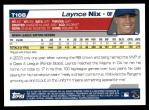 2004 Topps Traded #108 T Laynce Nix  Back Thumbnail
