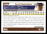 2004 Topps Traded #92 T Scott Hairston  Back Thumbnail