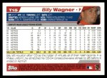 2004 Topps Traded #15 T Billy Wagner  Back Thumbnail