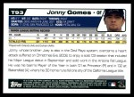 2004 Topps Traded #93 T Jonny Gomes  Back Thumbnail