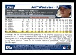 2004 Topps Traded #55 T Jeff Weaver  Back Thumbnail