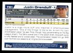 2004 Topps Traded #81 T Justin Orenduff  Back Thumbnail