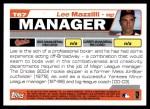 2004 Topps Traded #67 T Lee Mazzilli  Back Thumbnail