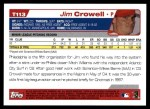 2004 Topps Traded #113 T  -  Jim Crowell First Year Back Thumbnail
