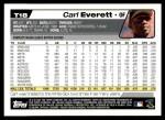 2004 Topps Traded #18 T Carl Everett  Back Thumbnail