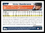 2004 Topps Traded #46 T Victor Zambrano  Back Thumbnail