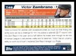 2004 Topps Traded #46 T Victor Zambrano  Back Thumbnail
