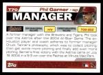 2004 Topps Traded #70 T Phil Garner  Back Thumbnail