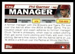 2004 Topps Traded #70 T Phil Garner  Back Thumbnail