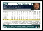 2004 Topps Traded #42 T Raul Ibanez  Back Thumbnail