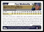 2004 Topps Traded #130 T  -  Paul McAnulty First Year Back Thumbnail