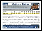2004 Topps Traded #102 T Guillermo Quiroz  Back Thumbnail