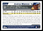 2004 Topps Traded #114 T  -  Andres Blanco First Year Back Thumbnail