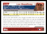 2004 Topps Traded #179 T  -  Lee Gwaltney First Year Back Thumbnail