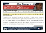 2004 Topps Traded #188 T  -  Alex Romero First Year Back Thumbnail