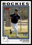 2004 Topps Traded #186 T  -  Jeff Salazar First Year Front Thumbnail