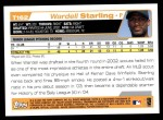 2004 Topps Traded #162 T  -  Wardell Starling First Year Back Thumbnail