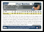 2004 Topps Traded #203 T  -  Chad Santos First Year Back Thumbnail