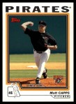 2004 Topps Traded #173 T  -  Matt Capps First Year Front Thumbnail