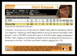 2004 Topps Traded #173 T  -  Matt Capps First Year Back Thumbnail