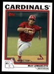 2004 Topps Traded #161 T  -  Matt Lemanczyk First Year Front Thumbnail