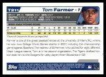 2004 Topps Traded #211 T  -  Tom Farmer First Year Back Thumbnail