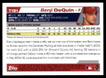 2004 Topps Traded #181 T  -  Benji DeQuin First Year Back Thumbnail