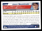 2004 Topps Traded #158 T  -  Jason Szuminski First Year Back Thumbnail