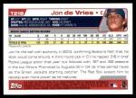 2004 Topps Traded #218 T  -  Jon de Vries First Year Back Thumbnail