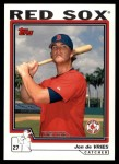 2004 Topps Traded #218 T  -  Jon de Vries First Year Front Thumbnail