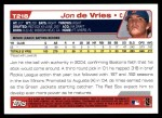 2004 Topps Traded #218 T  -  Jon de Vries First Year Back Thumbnail