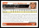 2004 Topps Traded #183 T  -  Juan Gutierrez First Year Back Thumbnail