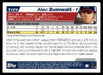 2004 Topps Traded #177 T  -  Alec Zumwalt First Year Back Thumbnail