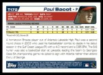 2004 Topps Traded #172 T  -  Paul Bacot First Year Back Thumbnail