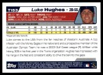 2004 Topps Traded #153 T  -  Luke Hughes First Year Back Thumbnail