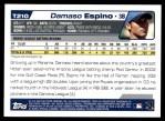 2004 Topps Traded #210 T  -  Damaso Espino First Year Back Thumbnail