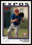 2004 Topps Traded #214 T  -  Greg Thissen First Year Front Thumbnail