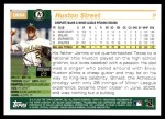 2005 Topps Update #54  Huston Street  Back Thumbnail