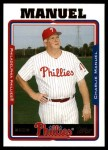 2005 Topps Update #87  Charlie Manuel  Front Thumbnail