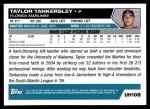 2005 Topps Update #108  Taylor Tankersley  Back Thumbnail