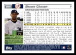 2005 Topps Update #41  Shawn Chacon  Back Thumbnail