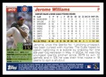 2005 Topps Update #72  Jerome Williams  Back Thumbnail